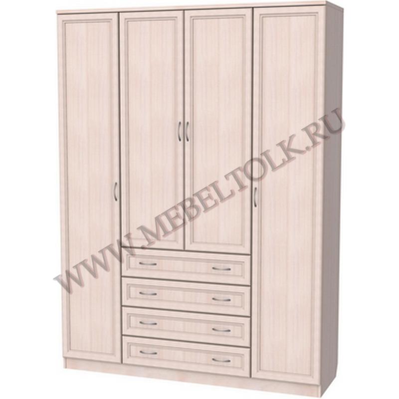 шкаф для белья со штангой, полками и ящиками шкафы для одежды и белья