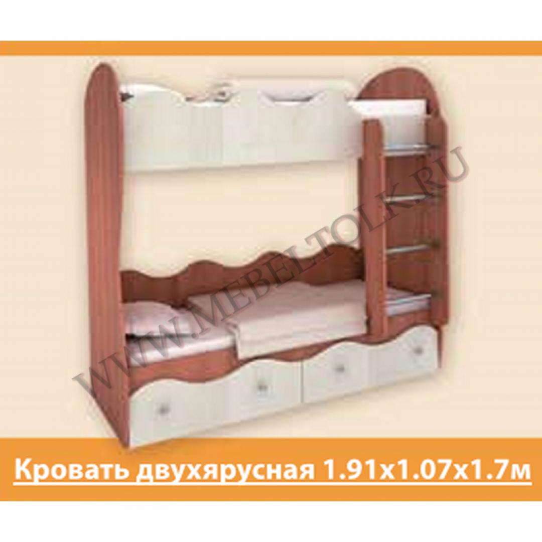 кровать двухъярусная «пифагор» лдсп кровати 2-х ярусные