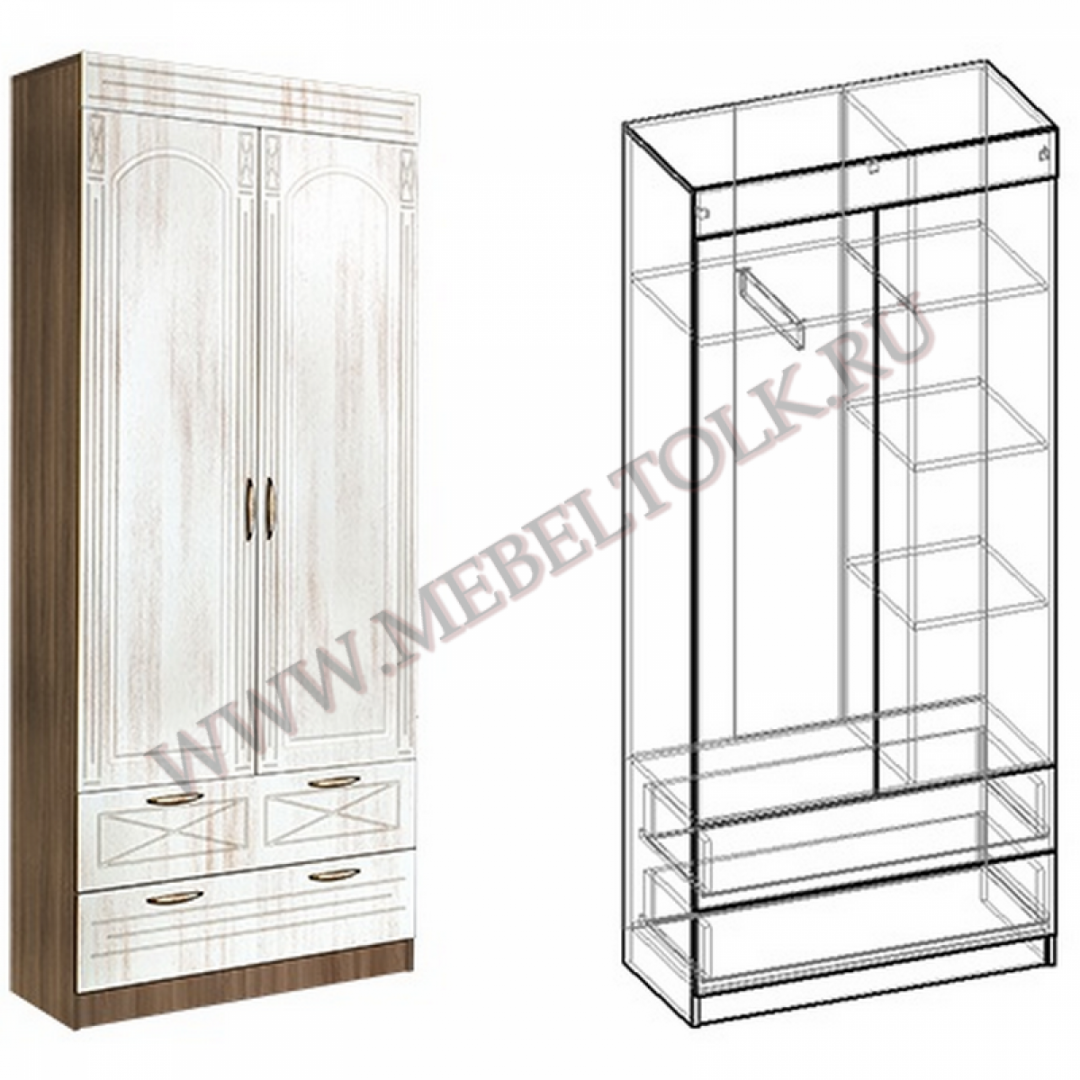 шкаф 2-х створчатый «сабрина» «сабрина»