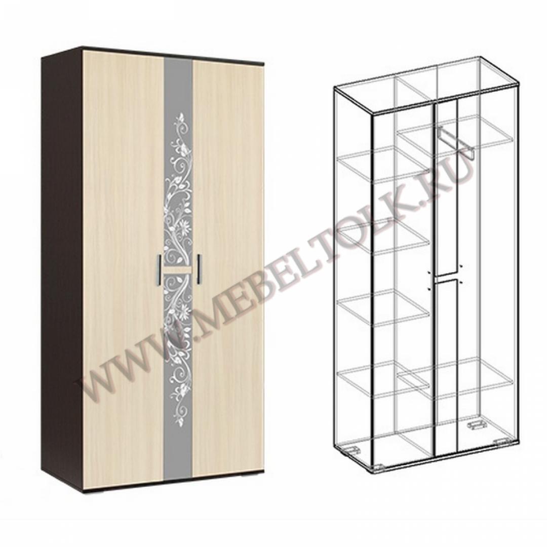 шкаф 2-х створчатый «алегро» шкафы для одежды и белья