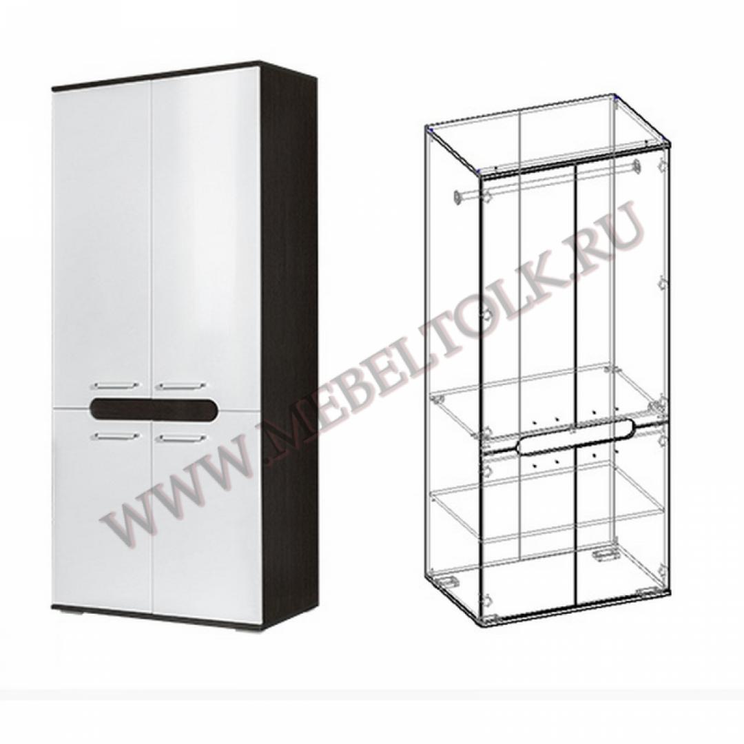 шкаф 2-х створчатый «соренто 1» шкафы для одежды и белья