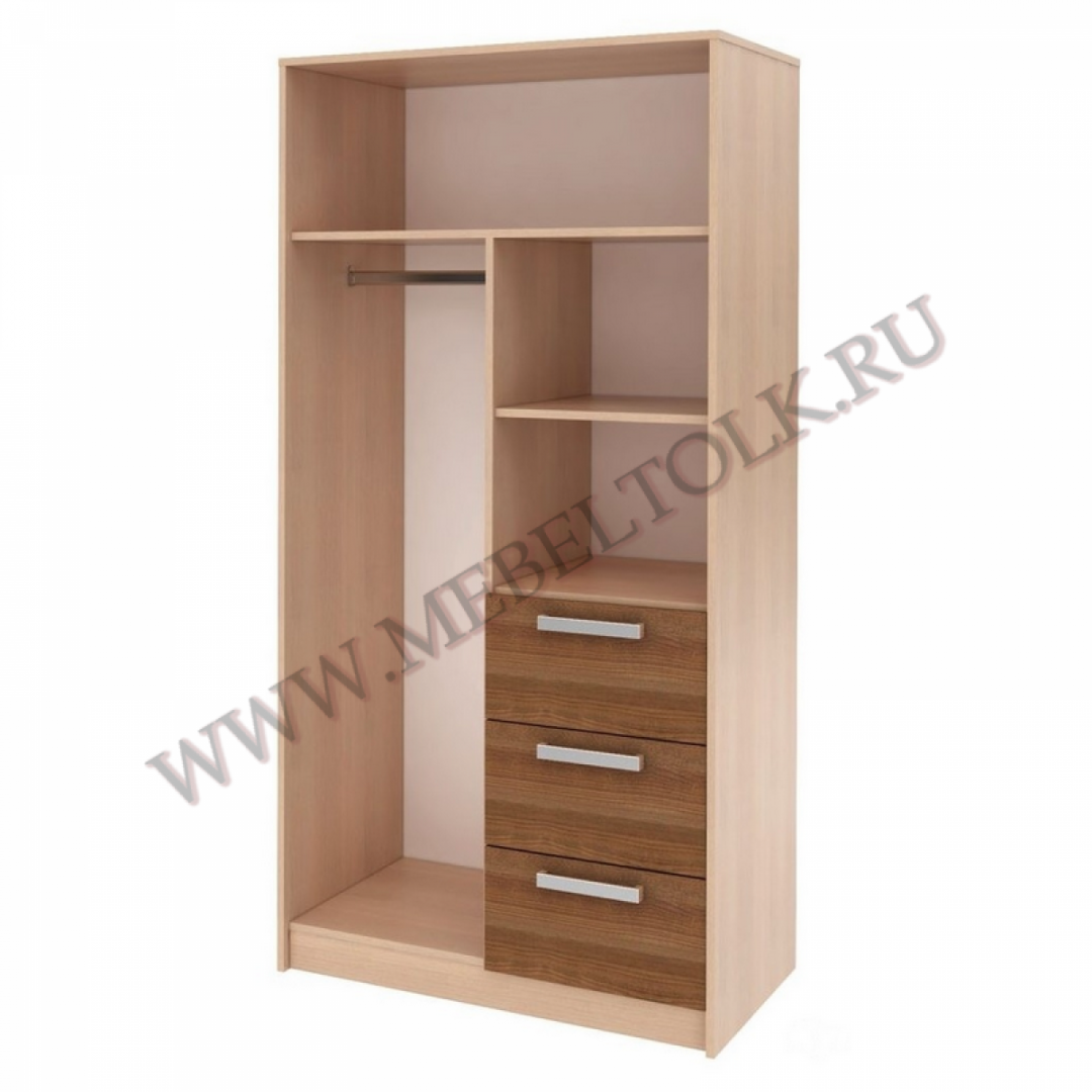 шкаф 2-х дверный с ящиками «мика» «мика»