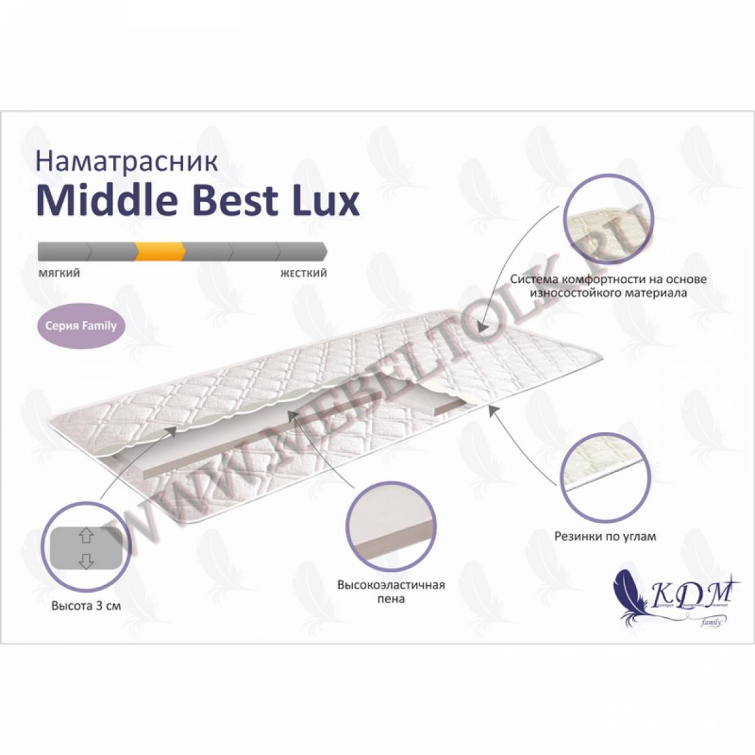 наматрасник «middle best lux» 3 наматрасники
