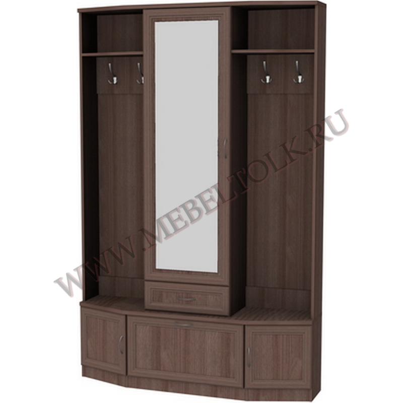 шкаф для прихожей с зеркалом и обувницей «гарун»