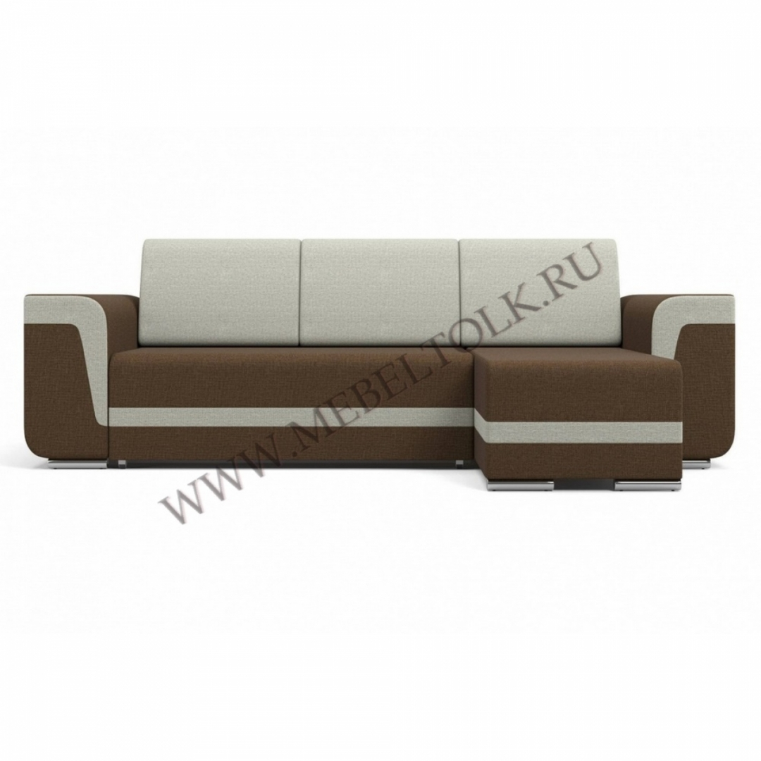 """Угловой диван """"Марракеш"""" серо-коричневый"""