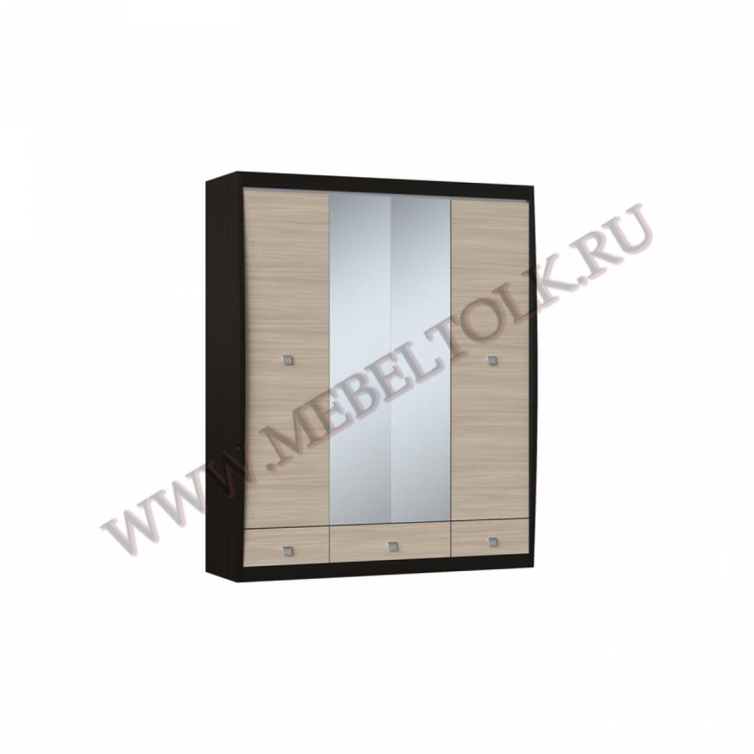 шкаф 4-х створчатый с зеркалом «ксено» ксено