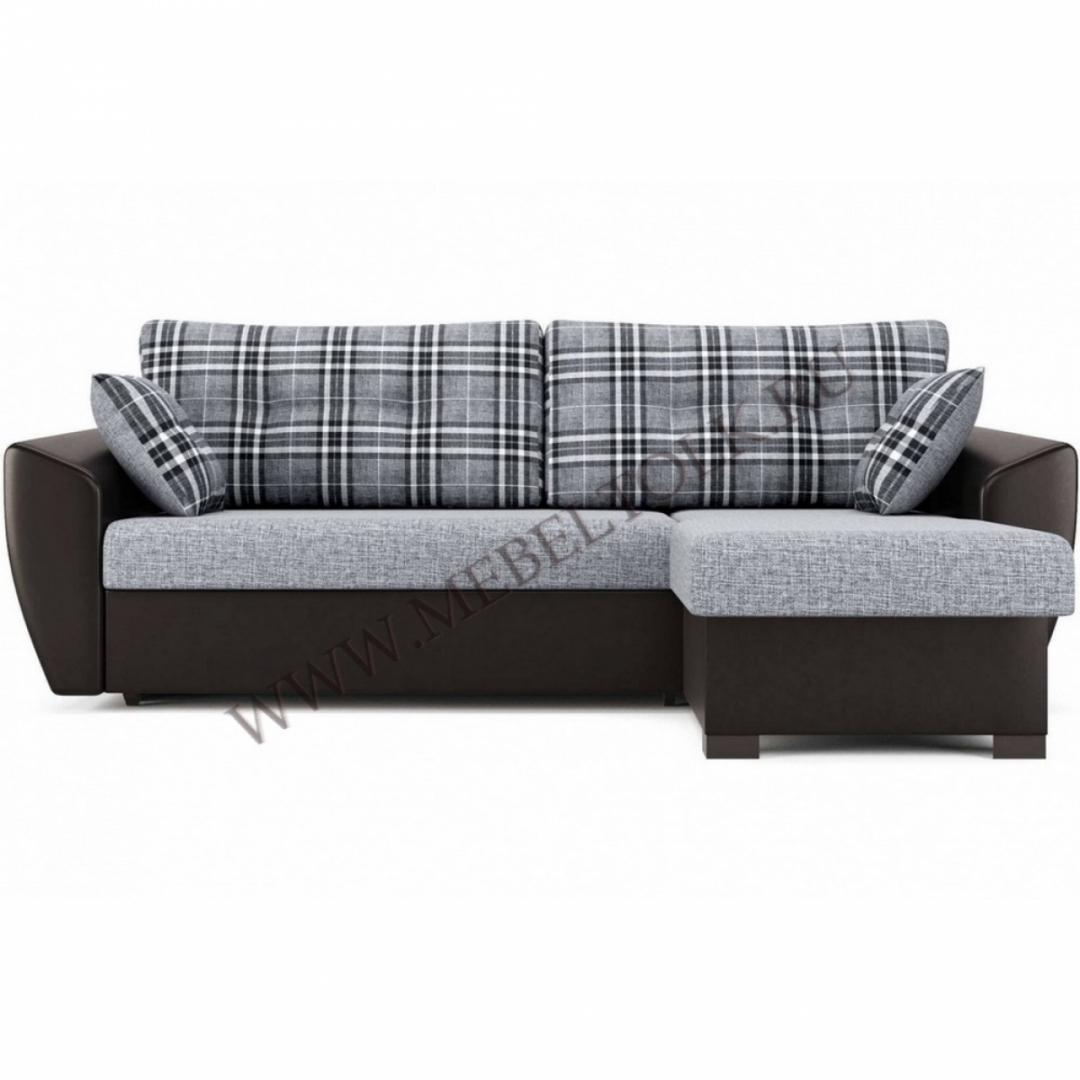 """Угловой диван """" Амстердам"""" серо-коричневый"""