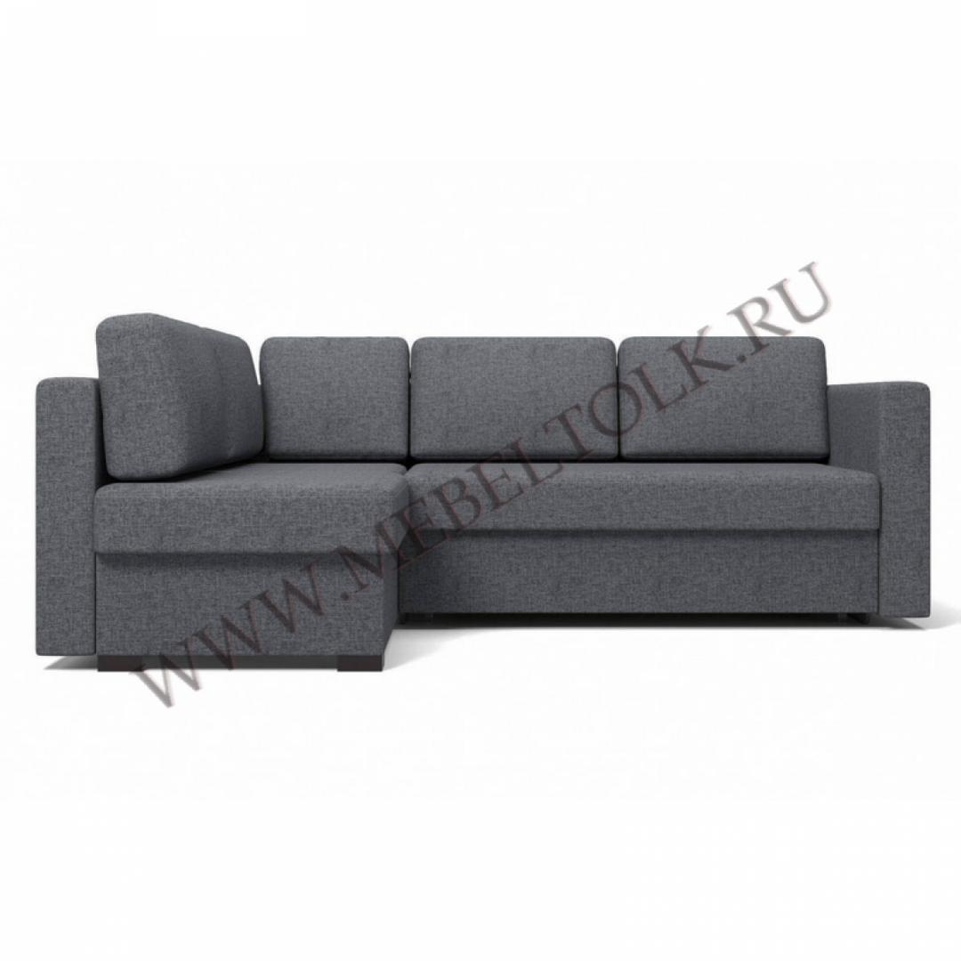 """Угловой диван """"Джессика 2"""" (левый) серый"""