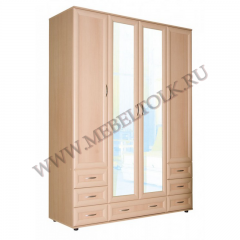 шкаф четырёхстворчатый шкафы для одежды и белья