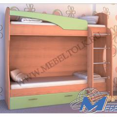 Кровать двухъярусная с ящиком