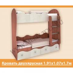 """Кровать двухъярусная """"Пифагор"""" ЛДСП"""