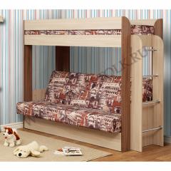 """Кровать 2-ярусная с диваном """"Немо"""""""