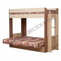 кровать 2-ярусная с диваном «немо» кровати 2-х ярусные
