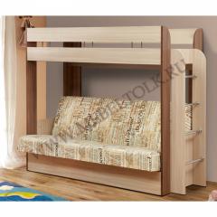 """Кровать 2-х ярусная с диваном """"Немо"""""""