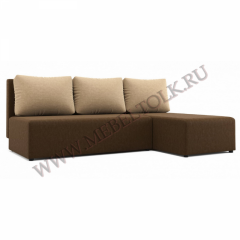 "Угловой диван ""Комо"" бежево-коричневый"