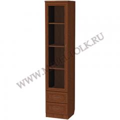 Шкаф для книг с ящиками узкий