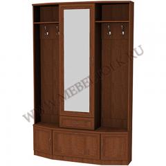 Шкаф для прихожей с зеркалом и обувницей