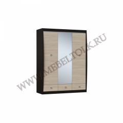 шкаф 3-х створчатый с зеркалом «ксено» ксено