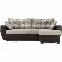 "Угловой диван "" Амстердам"" бежево-коричневый"