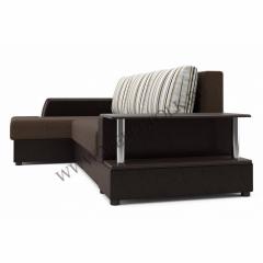 """Угловой диван """"Франк"""" (левый) коричневый"""