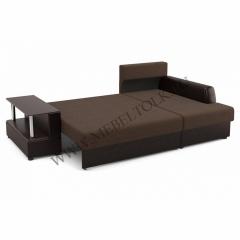 """Угловой диван """"Франк"""" (правый) коричневый"""