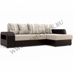 """Угловой диван """"Марго"""" (Правый) бежево-коричневый"""